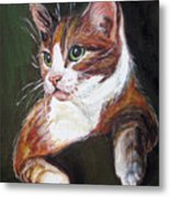 Orange Kitty Metal Print