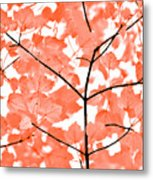 Orange Leaves Melody  Metal Print