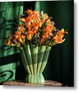 Orange Lilies In June Metal Print