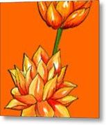 Lotus Flower Tattoo Design Inspired Watercolour Metal Print