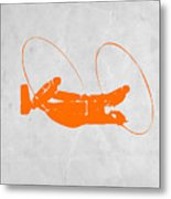 Orange Plane Metal Print
