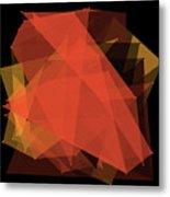 Orange Polygon Pattern Metal Print