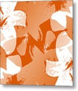 Orange Poster Lilies Metal Print