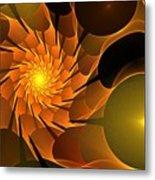 Orange Rose Blossom Metal Print