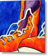 Orange Sneakers Metal Print