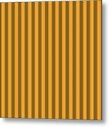 Orange Striped Pattern Design Metal Print