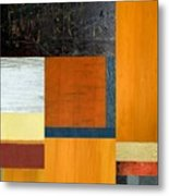 Orange Study With Compliments 2.0 Metal Print