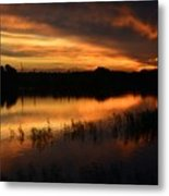 Orange Sunrise Metal Print