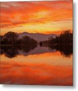 Orange Sunset Metal Print