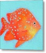 Orange Tropical Fish Metal Print