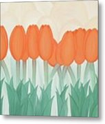 Orange Tulipans Metal Print