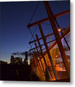 Orange Veil Over Toronto Metal Print