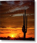 Orange Ya Beautiful Skies  Metal Print