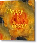 Orange You Lovely Easter Metal Print