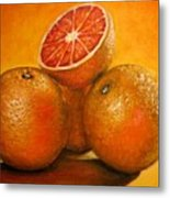 Oranges  Original Oil Painting Metal Print