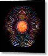 Orb Moon Rings Metal Print