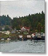 Orcas Island Dock Metal Print
