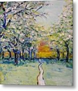 Orchard Path Metal Print
