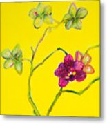 Orchid And Amarillo Metal Print