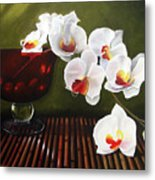 Orchid Cascade Metal Print