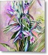 Orchids- Botanicals Metal Print