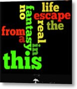 Order The Lyrics Game. Queen. Bohemian Rapsody. Game For Music Lovers And Fans Metal Print