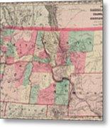 Oregon And Washington Territory Metal Print