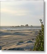 Oregon Beach At Dusk Metal Print