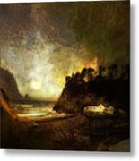 Oregon Beach Metal Print