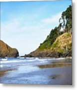 Oregon - Beach Life Metal Print