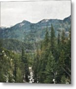 Oregon Cascade Range Metal Print