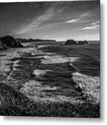 Oregon Coast At Sunset Metal Print