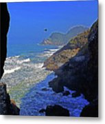 Oregon Coast From Sea Lion Caves Metal Print