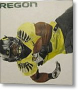 Oregon Ducks Lamichael James Metal Print