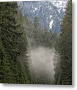 Oregon Highway Mist Metal Print