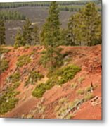 Oregon Landscape - Red Crater Metal Print