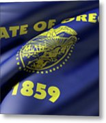 Oregon State Flag Metal Print