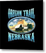 Oregon Trail Nebraska History Design Metal Print