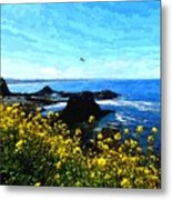 Oregon Wild Flowers Water Color Metal Print