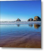 Oregons Rocky Coast Metal Print