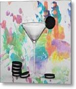 Oreo Happy Hour Watercolor Bg Metal Print