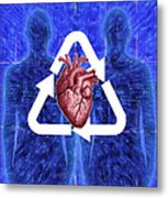 Organ Donation Metal Print