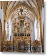 Organ Of The Gothic-baroque Church Of Maria Saal Metal Print