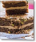 Organic Coffee And Pistachio Cake A Metal Print