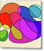 Organic Kaleidoscope Metal Print