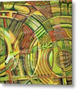 Organical Mechanical Metal Print