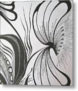 Organza Bloom Metal Print