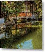 Orient - Bridge - The Chinese Garden Metal Print