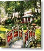 Orient - Bridge - The Bridge To The Temple  Metal Print by Mike Savad