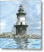 Orient Point Lighthouse Metal Print